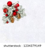 christmas decoration. twigs... | Shutterstock . vector #1234379149