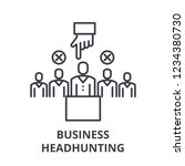 business headhunting line icon... | Shutterstock .eps vector #1234380730