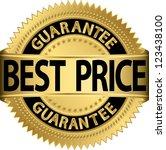 best price guarantee golden... | Shutterstock .eps vector #123438100