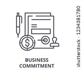 business commitment line icon... | Shutterstock .eps vector #1234381780