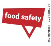 food safety sign label. food... | Shutterstock .eps vector #1234386739