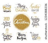 2019 new year  christmas... | Shutterstock .eps vector #1234388236