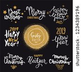 2019 new year  christmas... | Shutterstock .eps vector #1234389196
