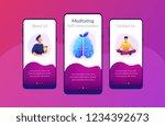 user practicing mindfulness... | Shutterstock .eps vector #1234392673
