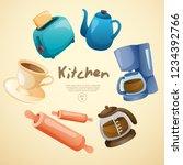 home appliances   objects in... | Shutterstock .eps vector #1234392766