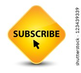Subscribe Yellow Diamond Button