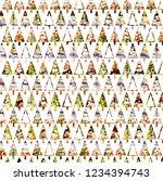 christmas texture modern... | Shutterstock . vector #1234394743