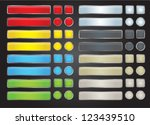 set of colored web button | Shutterstock .eps vector #123439510