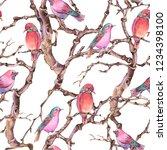 watercolor winter vintage... | Shutterstock . vector #1234398100