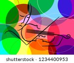 violinist in line on the... | Shutterstock .eps vector #1234400953