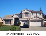 house in the suburbs | Shutterstock . vector #1234402