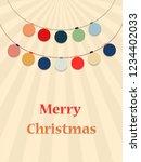 christmas toys balls garlands.... | Shutterstock .eps vector #1234402033