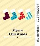christmas socks. christmas... | Shutterstock .eps vector #1234402039
