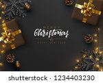 christmas banner. background... | Shutterstock .eps vector #1234403230