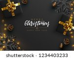 christmas banner. background... | Shutterstock .eps vector #1234403233