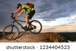 cyclist riding the bike on the... | Shutterstock . vector #1234404523