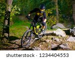 professional dh cyclist riding... | Shutterstock . vector #1234404553
