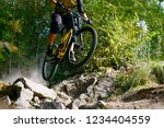 professional dh cyclist riding... | Shutterstock . vector #1234404559