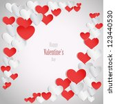 happy valentine's day... | Shutterstock .eps vector #123440530