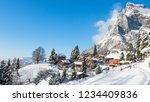 Village In The Alps In The Sno...