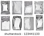 collection of various paper and ... | Shutterstock . vector #123441133
