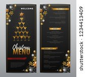 christmas menu design with... | Shutterstock .eps vector #1234413409
