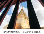 pagodas in thai temple see...   Shutterstock . vector #1234414066