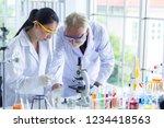 research teams in health... | Shutterstock . vector #1234418563