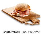 isolated image of a bacon roll... | Shutterstock . vector #1234420990
