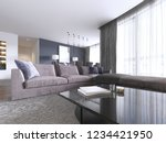 chic living room filled with... | Shutterstock . vector #1234421950