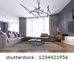 chic living room filled with... | Shutterstock . vector #1234421956
