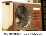the outdoor unit of air... | Shutterstock . vector #1234422220