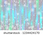 winter pastel background  with... | Shutterstock .eps vector #1234424170
