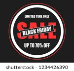 black friday sale black tag ... | Shutterstock .eps vector #1234426390