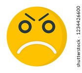 angry face emoji | Shutterstock .eps vector #1234426600