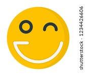 wink humor emoticon | Shutterstock .eps vector #1234426606