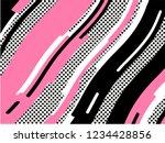 the memphis pattern. trending... | Shutterstock .eps vector #1234428856