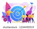 big target  manager and... | Shutterstock .eps vector #1234450519