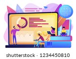 professor with charts teaching... | Shutterstock .eps vector #1234450810