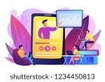 students watching online... | Shutterstock .eps vector #1234450813