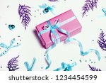 christmas background with blue... | Shutterstock . vector #1234454599