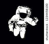 astronaut in spacesuit close up ... | Shutterstock . vector #1234458100