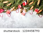 christmas background. gift box... | Shutterstock . vector #1234458793