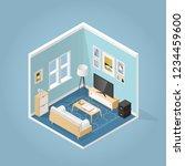 vector isometric living room in ... | Shutterstock .eps vector #1234459600