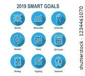 2019 smart goals vector graphic ... | Shutterstock .eps vector #1234461070