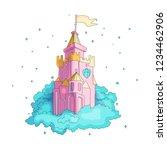 cartoon medieval fun pink... | Shutterstock .eps vector #1234462906