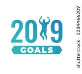 2019 goals vector graphic with... | Shutterstock .eps vector #1234466209