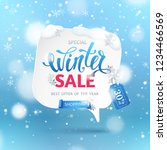 winter sale banner with paper... | Shutterstock .eps vector #1234466569