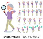a set of old women in... | Shutterstock .eps vector #1234476019