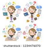 a set of women in sportswear...   Shutterstock .eps vector #1234476070